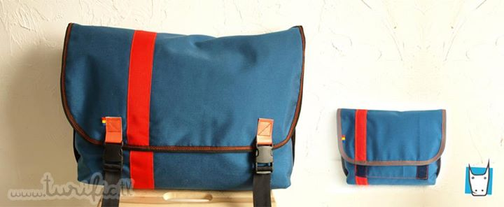 messenger bag + hip pouch
